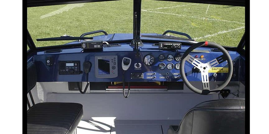 Dashboard of Search & Rescue Boat