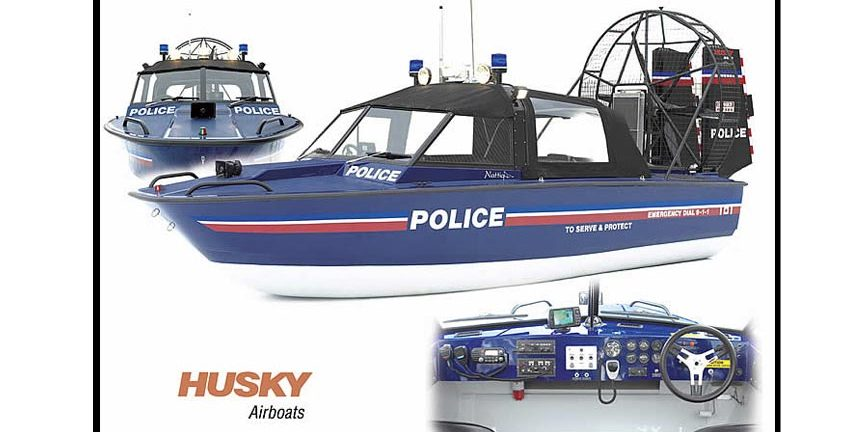 Police Boat Collage