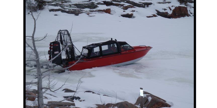 Airboat on Ice